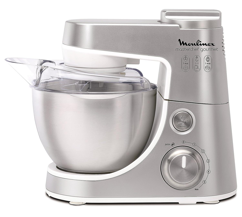 Masterchef Kitchen Appliances Qa415d Moulinex Masterchef Gourmet Kitchen Machine Silver Amazon