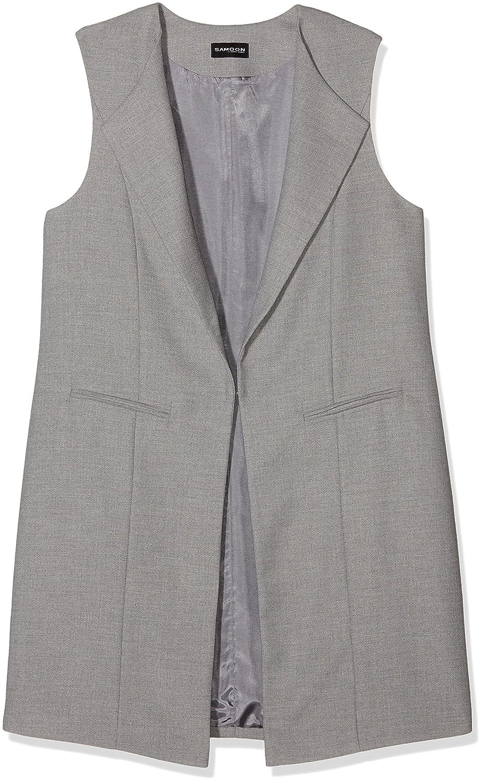 SAMOON Damen Anzugweste Long-Lined