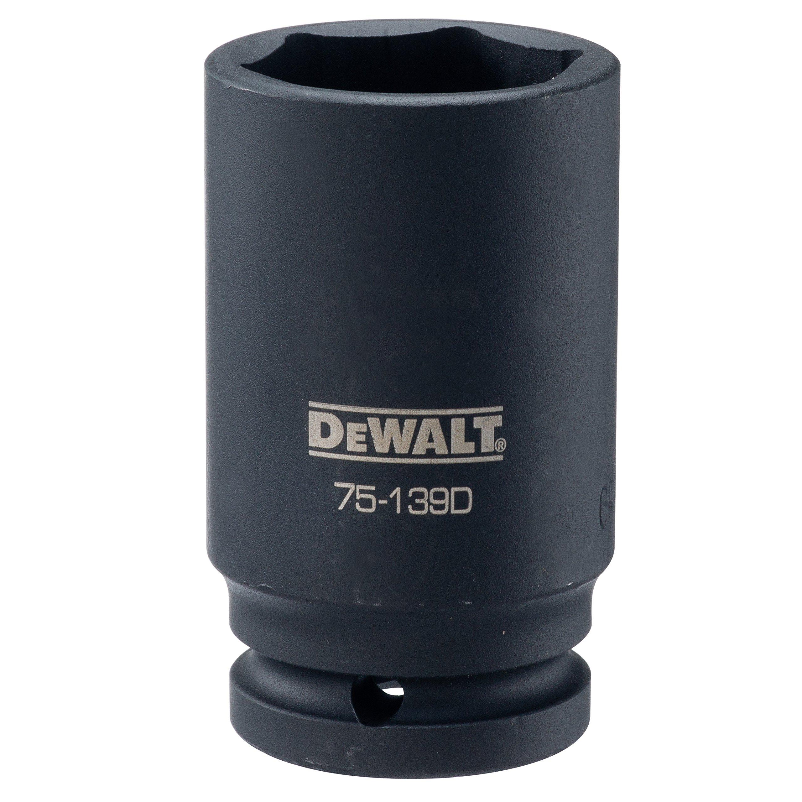 DEWALT 3/4'' Drive Impact Socket Deep 6 PT 1 7/16