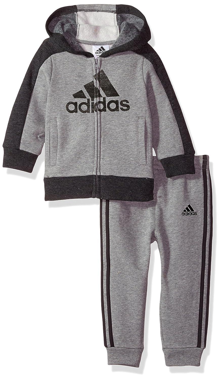 7403a72fa246a Amazon.com: adidas Baby Boys Athletics Set, Dark Grey, 12M: Clothing
