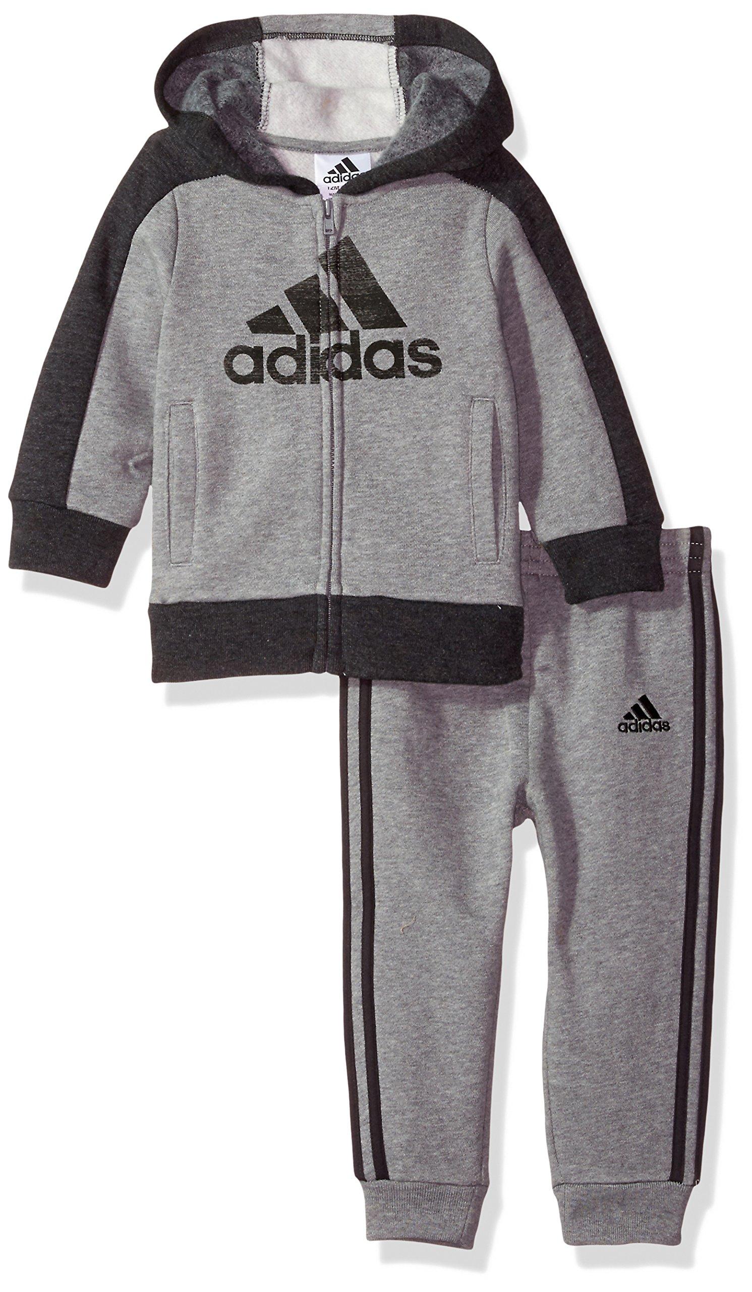 adidas Baby Boys Athletics Set, Dark Grey, 12M