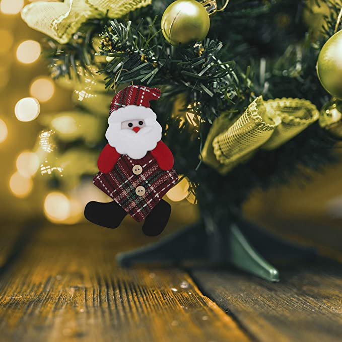Adornos Arbol Navidad (Pack de 6) - Santa, Muñeco de Nieve Y Reno - Set Peluches Decoración para Colgar - Adornos de Navidad Para el Árbol / Chimenea, Regalos, Manualidades - Adornos Navideños: Amazon.es: Hogar