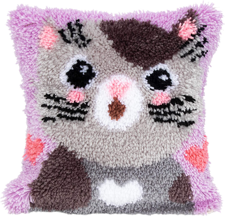 The Purrsly Pillow - Crochet Cat Pillow Pattern | Stitch in Progress | 1435x1500