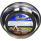 Loving Pets Fleur De Lis Bella Bowl for Dogs, Medium, Antique Gold