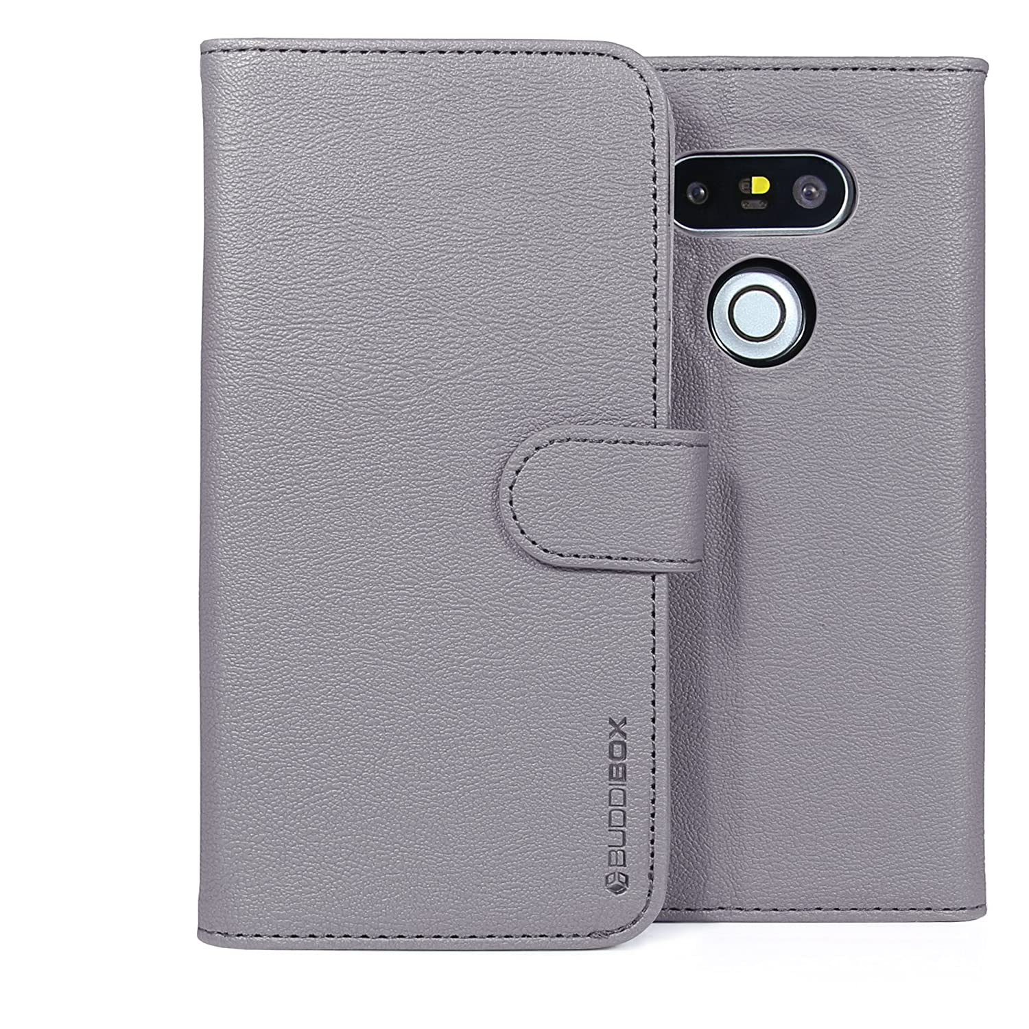 Amazon.com: LG G5 Monedero casos, buddibox, gris: Cell ...