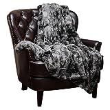 Amazon Price History for:Chanasya Super Soft Fuzzy Fur Faux Fur Cozy Warm Fluffy Beautiful Color Variatiion Print Plush Sherpa Dark Gray Fur Throw Blanket -Charcoal Gray Waivy Fur Pattern