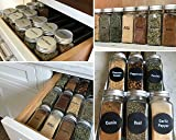 Talented Kitchen 14 Glass Spice Jars w/2 Types of