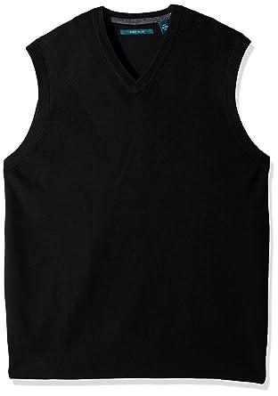 5c70541793 Perry Ellis Men s Pullover V-Neck Sweater Vest at Amazon Men s ...