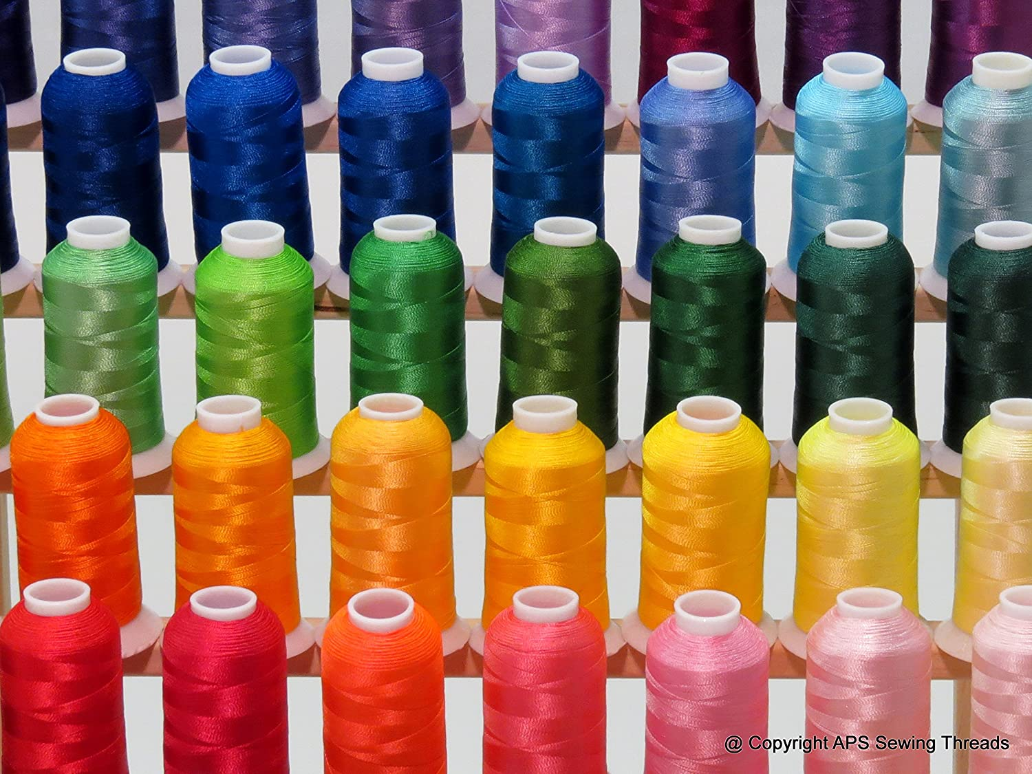 63 Brother Colors Embroidery Machine Thread Set 120D//2 40weight for Brother Babylock Janome Singer Pfaff Husqvarna Bernina Machines
