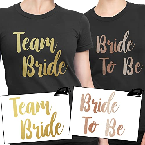248e071c TEAM BRIDE Iron On T Shirt Transfer Bride To Be Tribe Squad Hen Do Party  Rose Gold VINYL: Amazon.co.uk: Handmade