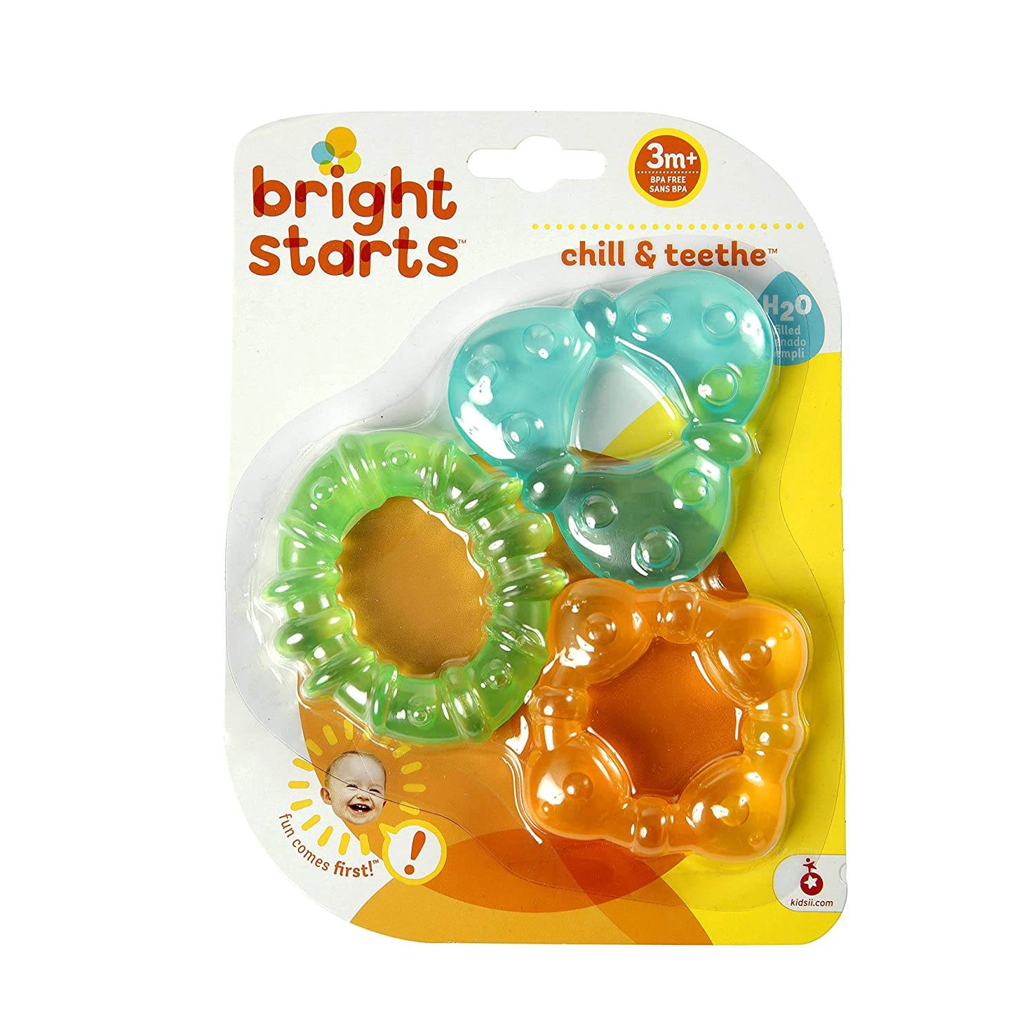 Bright Starts Teether Chill Durable plastic is easy to clean