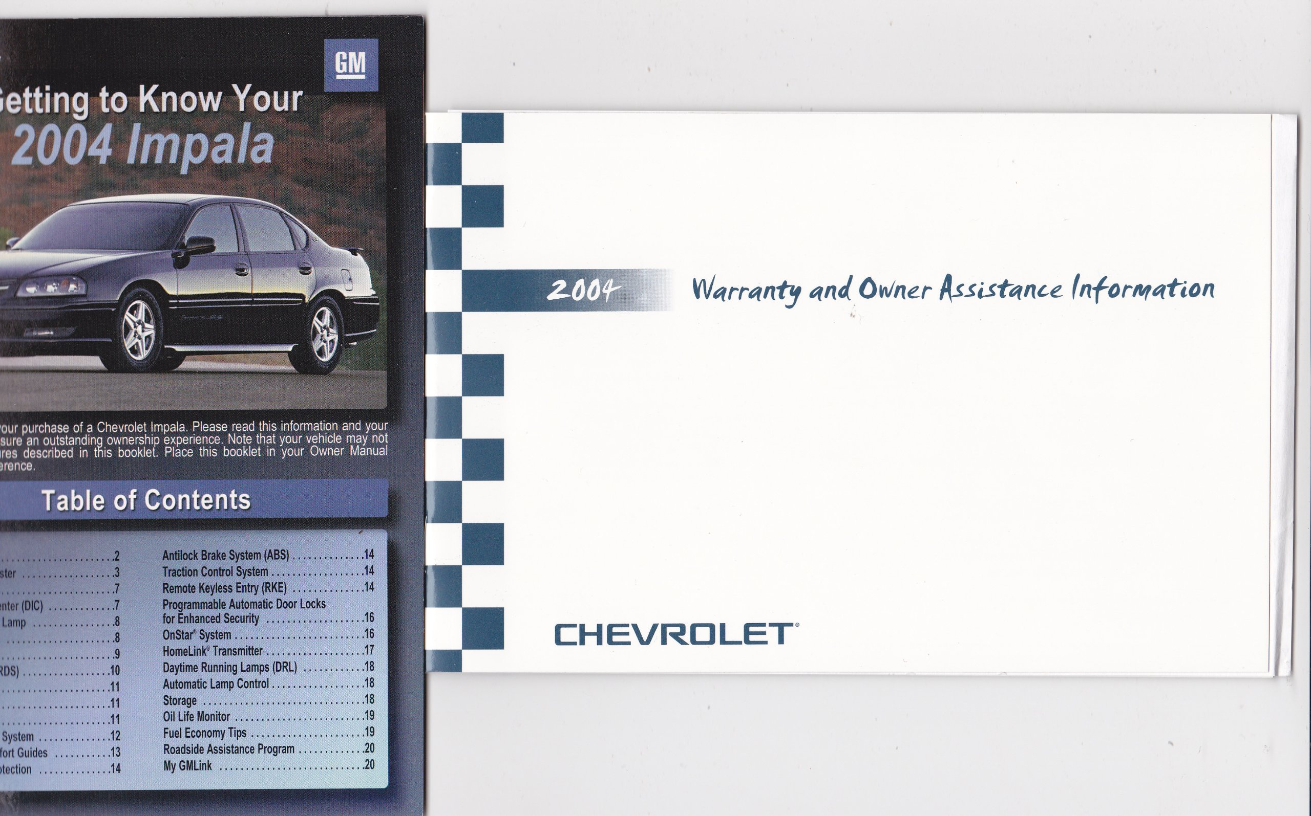 2004 Chevrolet Impala Owners Manual