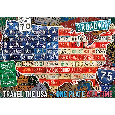 Buffalo Games - Travel The USA - 300 Large Piece Jigsaw Puzzle: Toys & Games