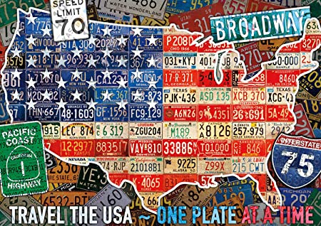 Buffalo Games Tour The States USA Map 300 Large Piece Jigsaw Puzzle