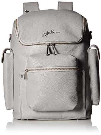 01326da8b2ed Amazon.com : JuJuBe Forever Backpack Multi-Functional Vegan Leather Diaper  Bag, Ever Collection - Stone : Baby