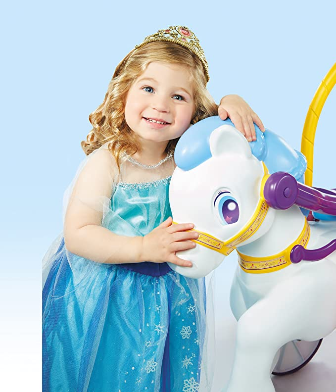 little tikes Princess Horse & Carriage Apertura por Empuje - Juguetes de Montar (Apertura por Empuje, 1 año(s), 4 Rueda(s),, Child, Chica): Amazon.es: ...