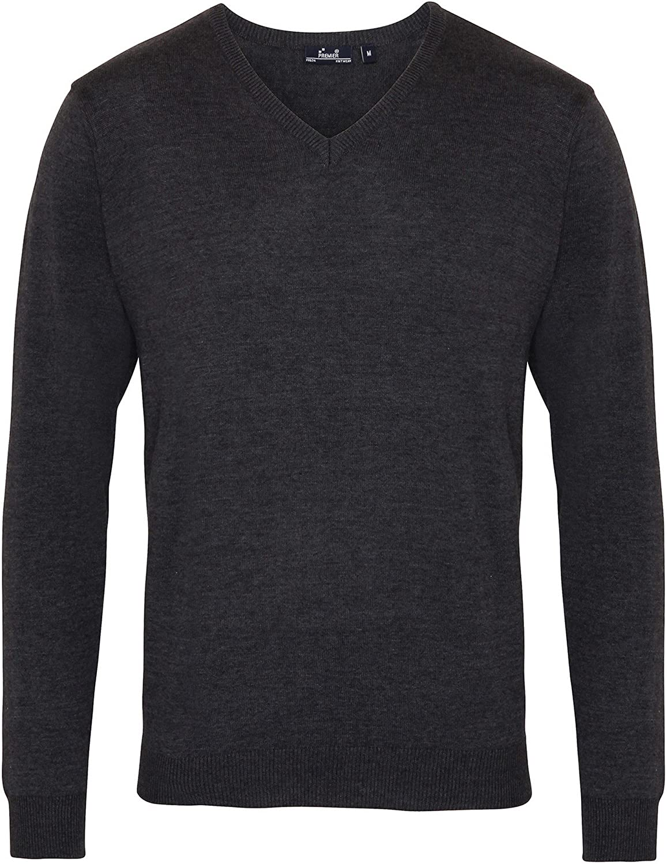 Jersey//Sweater de punto con cuello pico hombre caballero Premier