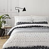 Marimekko 221444 Jurmo Comforter Set, King, Black White