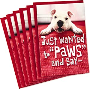 Hallmark Pack of Valentines Day Cards for Kids, Puppy Paws (6 Valentine's Day Cards with Envelopes)