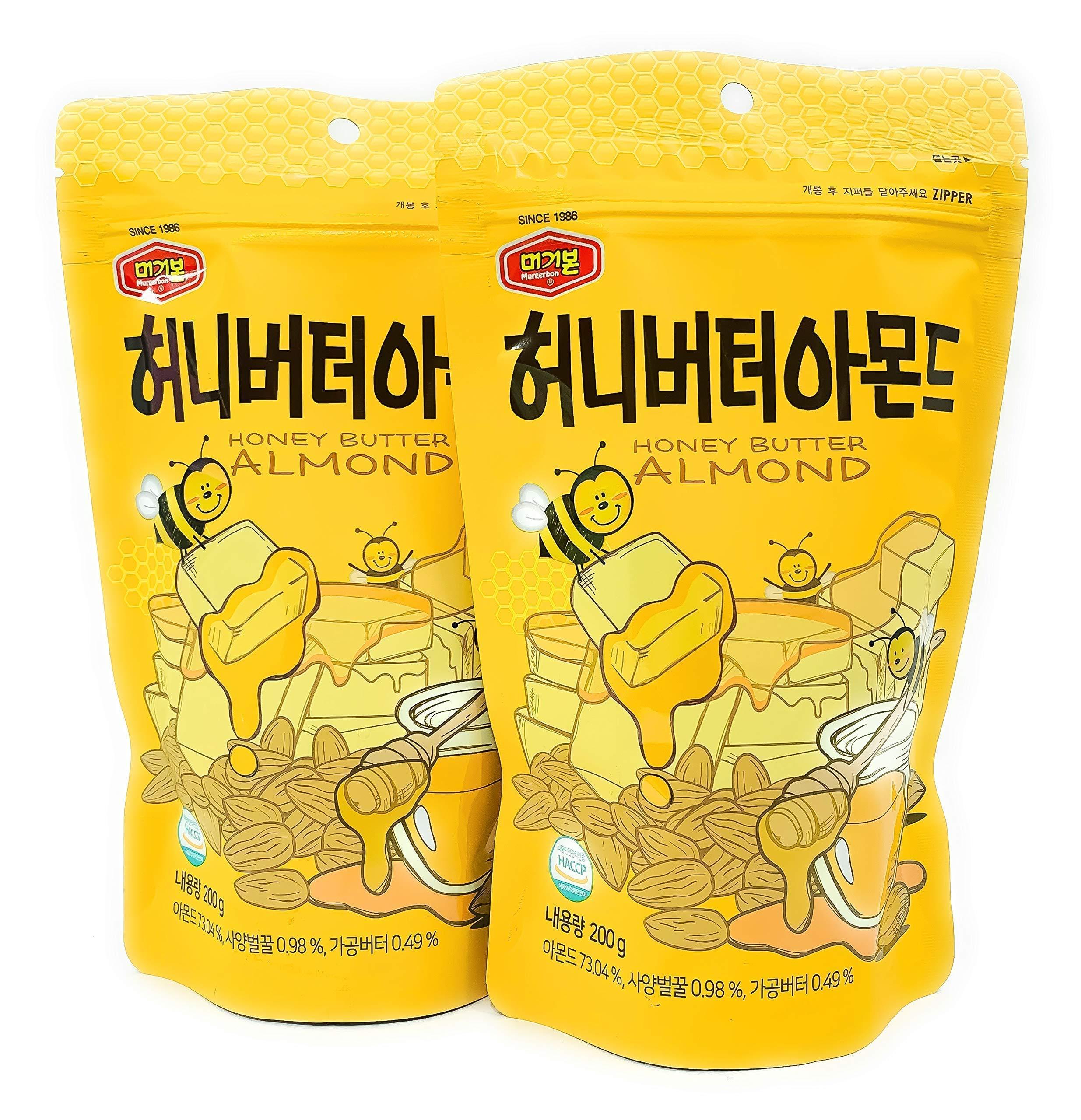 Honey Butter Flavored Almonds 200g (2 Packs)