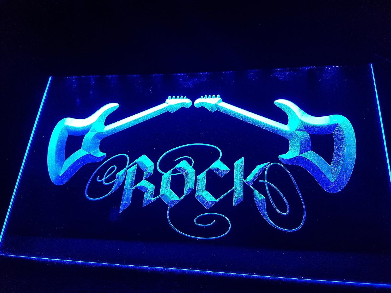 Rock//Hard Rock Bombilla LED Cartel Cartel Cargar Reklame Neon Neon Cartel Bar Discoteca on Air TV Radio