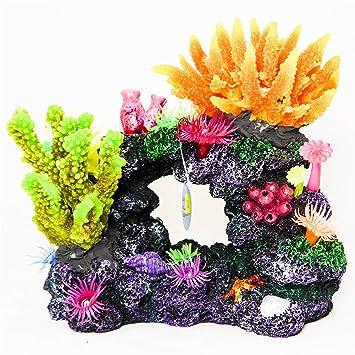 Realistic Aquarium Ornament Fish Tank Decoration Tropical Marine Coral Polyp