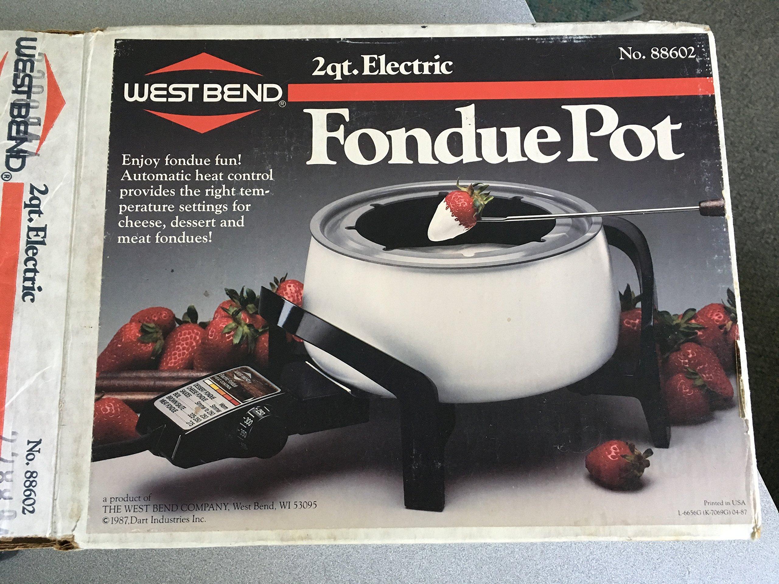 West Bend 2 Quart Electric Fondue Pot 88602