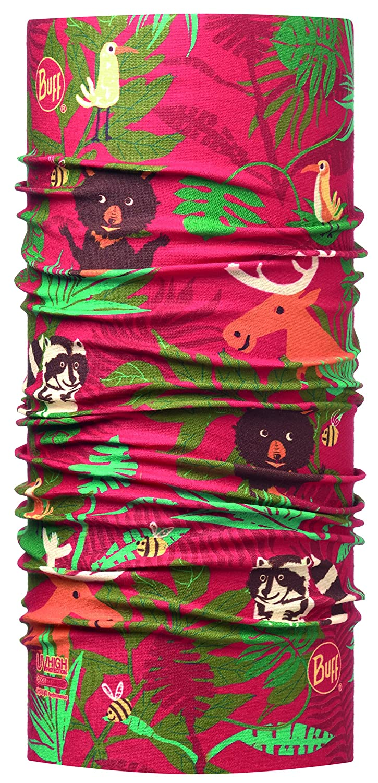 Buff – Fasce – ragazzo BUFF Multifunktionstuch mit erhöhtem UV–Schutz für Kinder Abenteuer Wald, rot, Polyester, Gr.50–55 taglia unica Gr.50-55 taglia unica Original Buff 115087.425.10.00