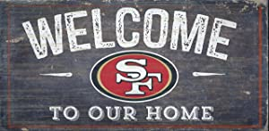 Fan Creations Welcome San Francisco 49ers Distressed 6 x 12, 6