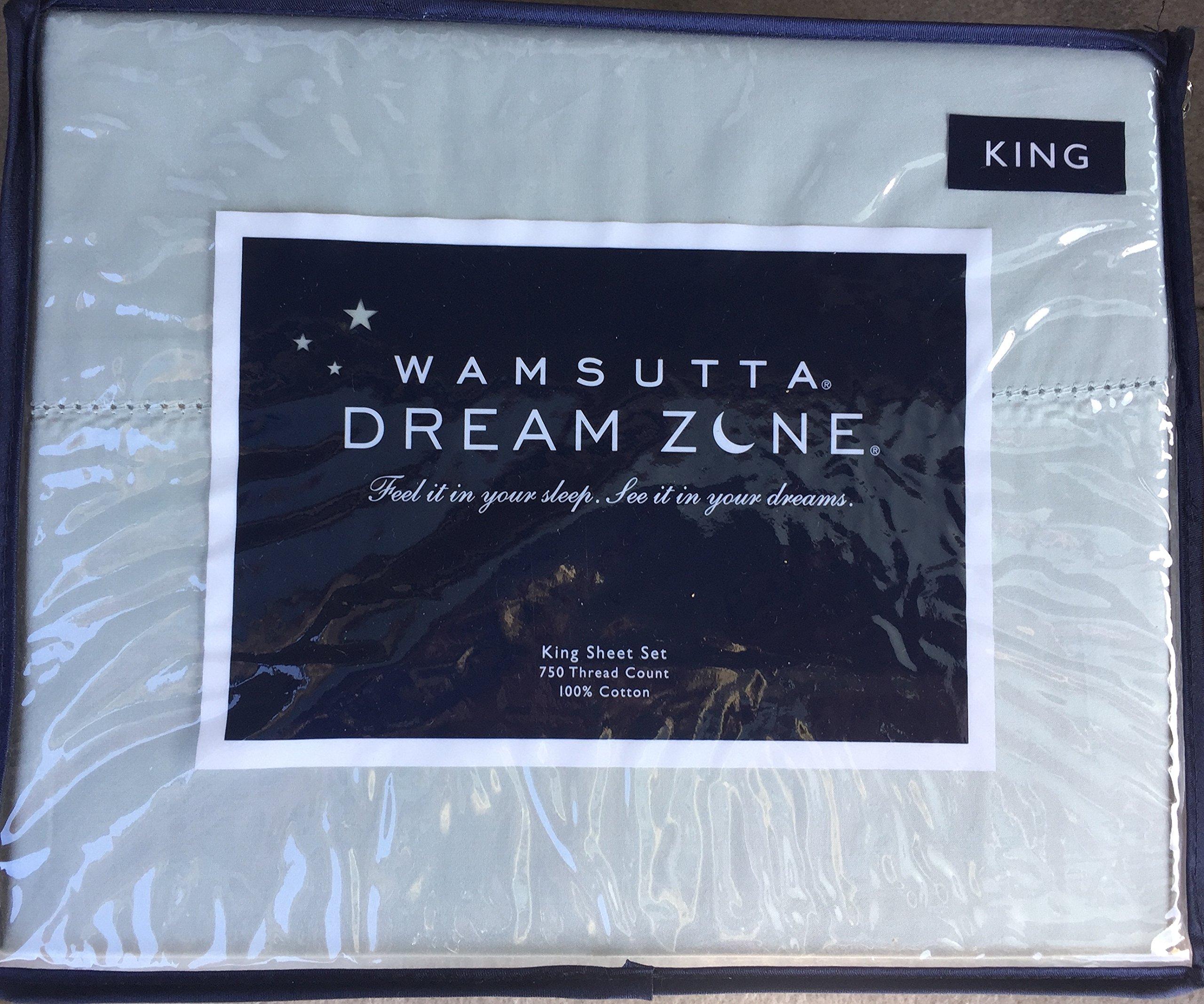 Wamsutta Dream Zone Aqua King Sheet Set, 750 Thread Count