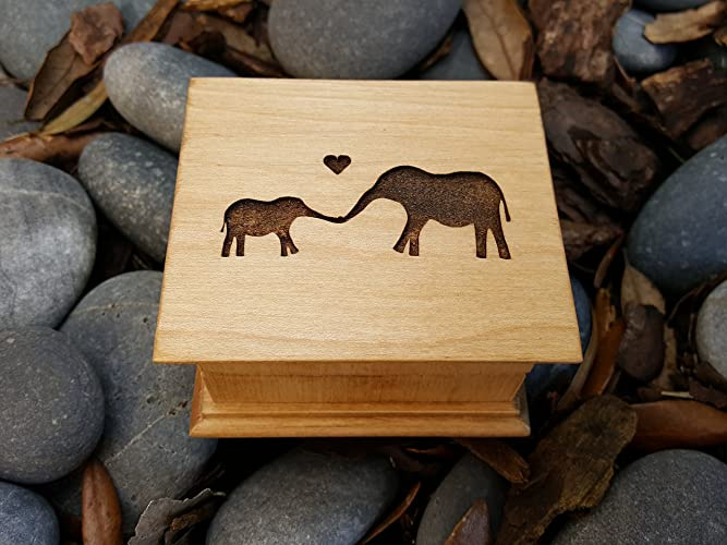 Amazoncom Mothers Day Gift Custom Engraved Wooden Music Box With