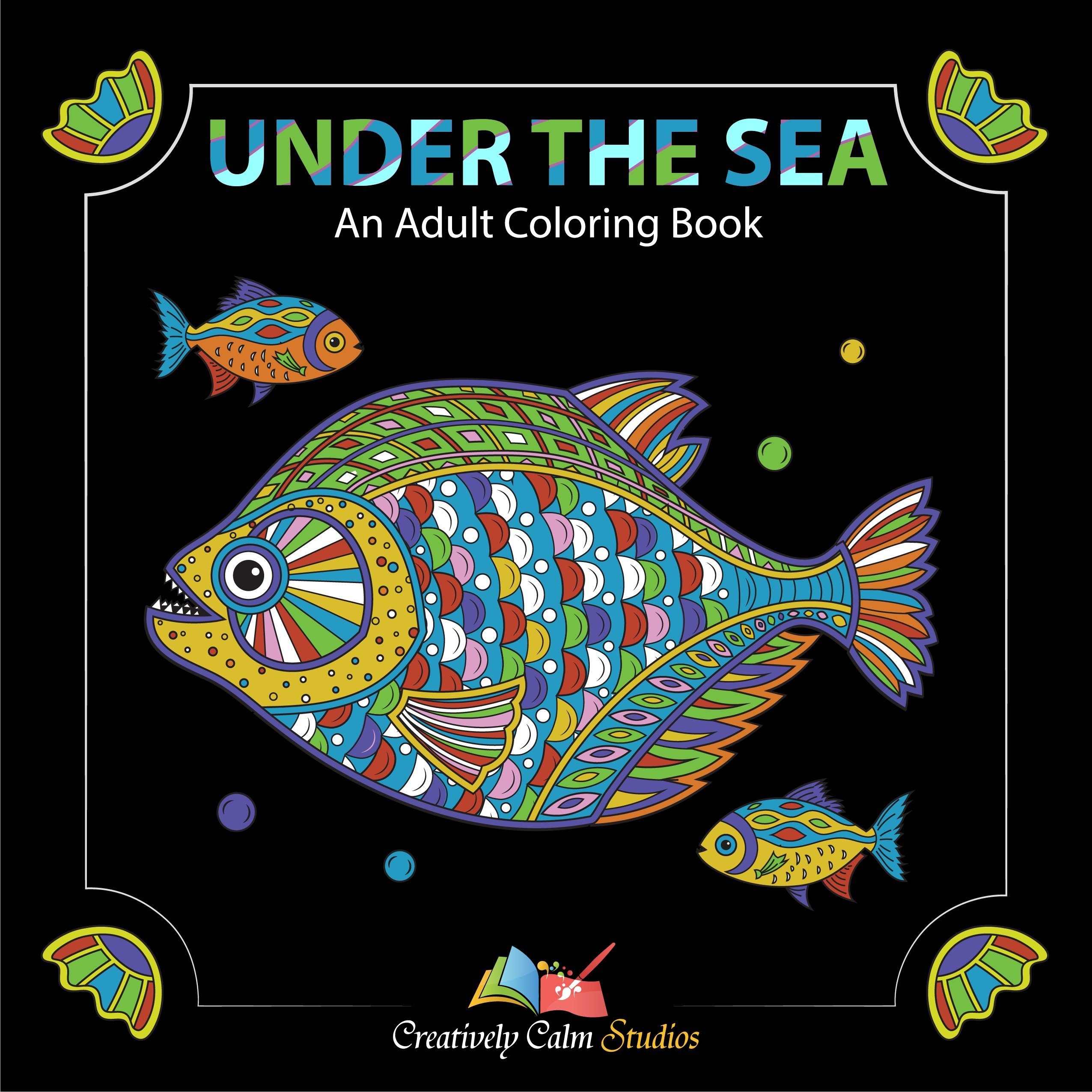 Under the sea coloring book for adults - Creatively Calm Studios Adult 3 Coloring Books Set With 120 Animal Mandala And Scenic Designs Creatively Calm Studios 0638170532320 Amazon Com Books