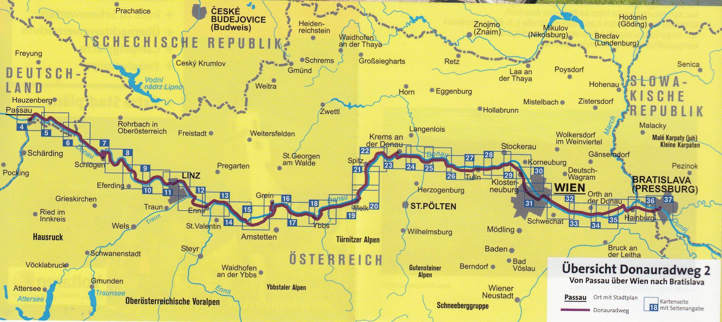 Ruta ciclista del Danubio - Passau a Bratislava Alemania, Austria ...