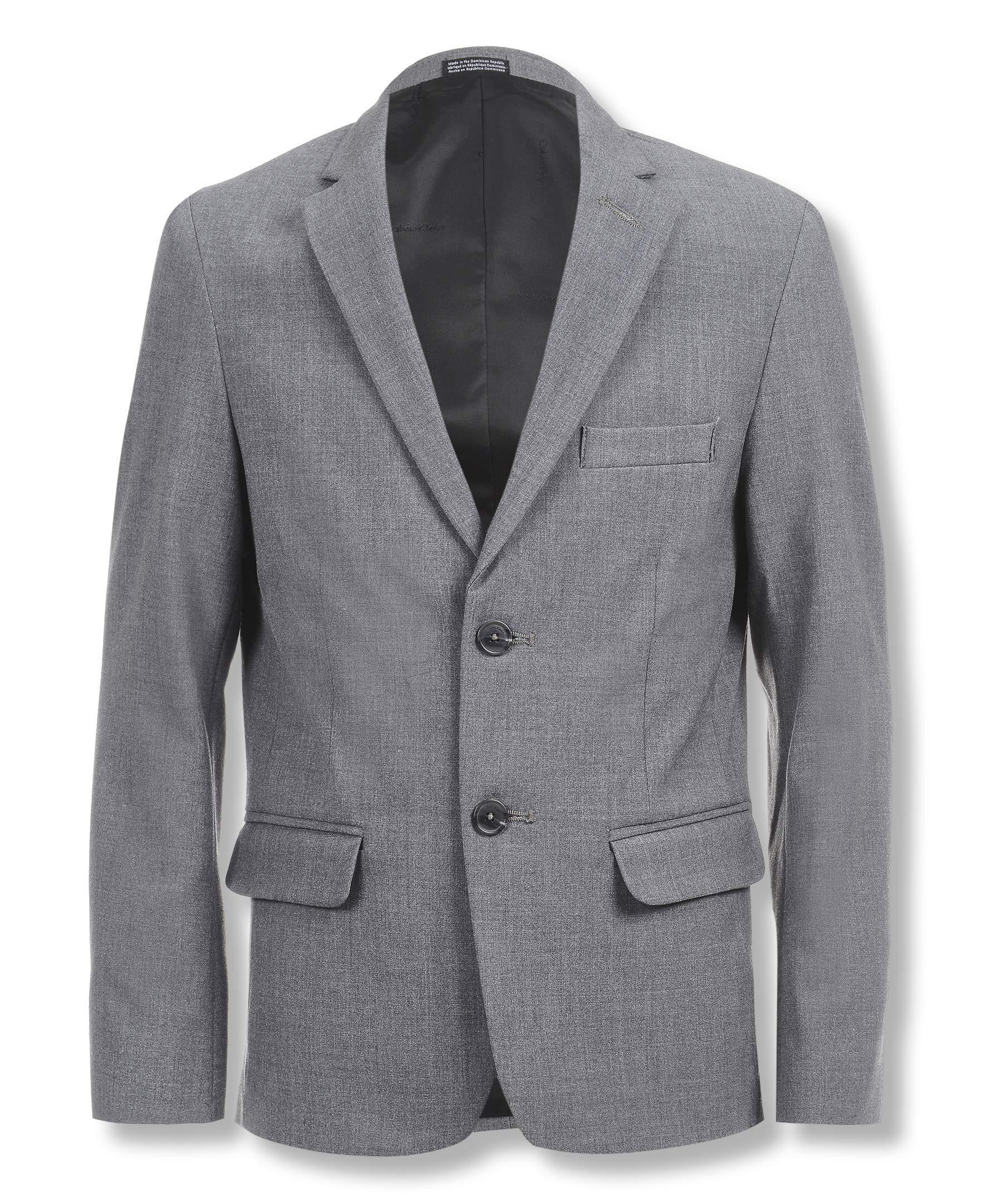 Calvin Klein Boys Bi-Stretch Blazer, Grey Heather 14