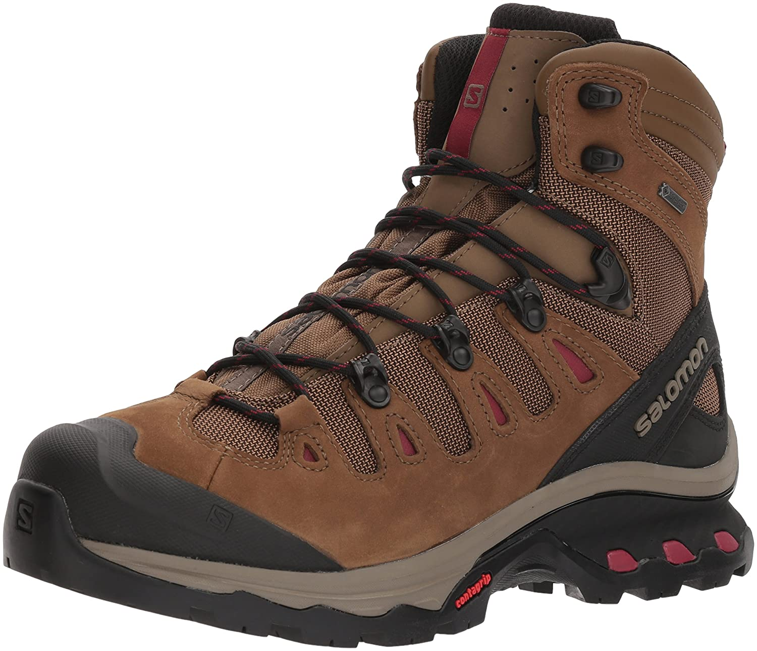 Salomon Women's Quest 4d 3 GTX W Backpacking Boots B07885MX3P 8.5 M US|Teak