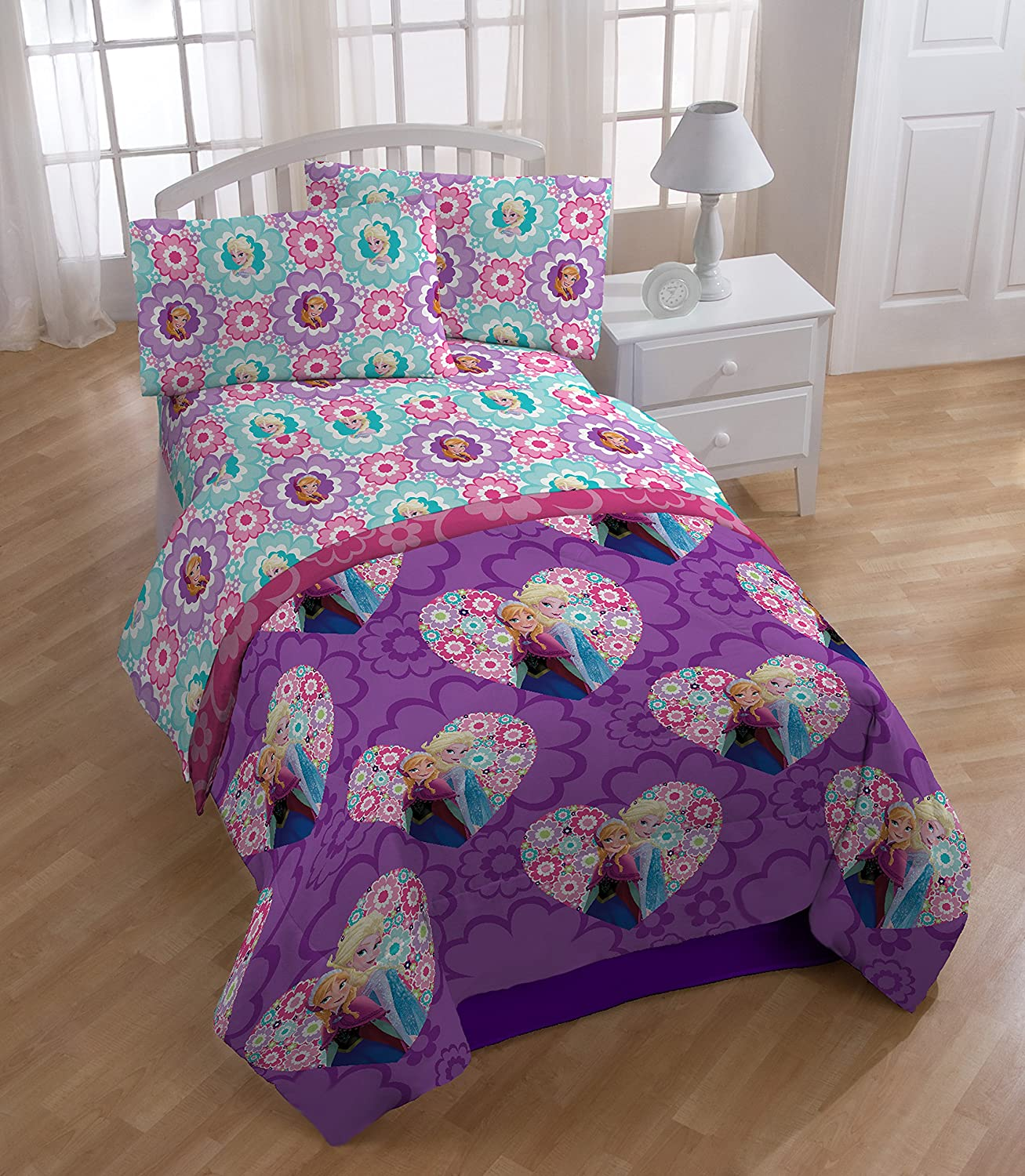 Disney frozen Floral Microfiber Twin Sheet Set