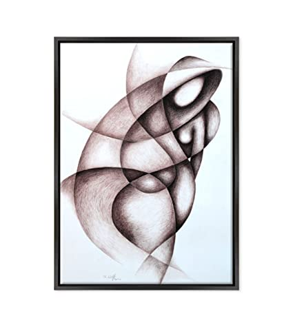 Quadro Su Tela Canvas Intelaiato Con Cornice Picasso Cubismo