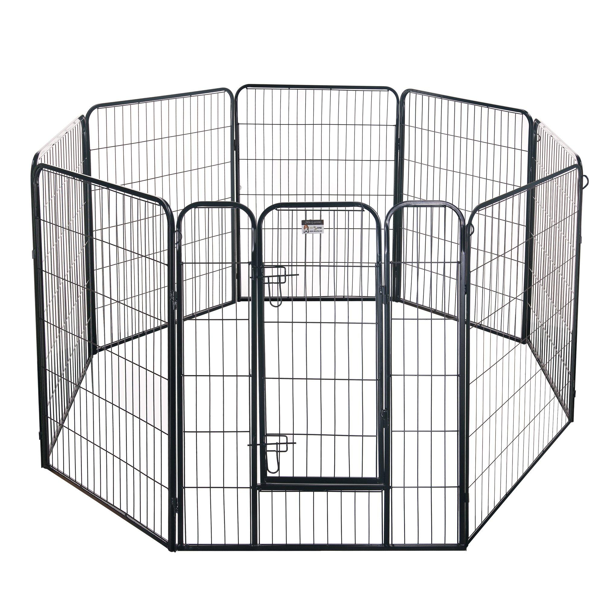 Pet Trex 2345 40 Inch Black Playpen Heavy Duty Playpen for Indoor and Outdoor Use, 40'', Black