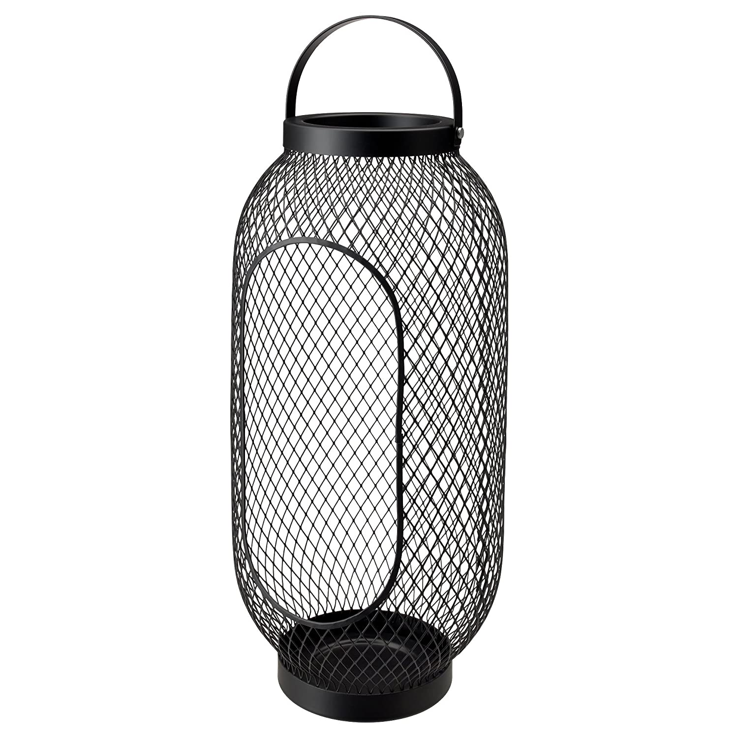 ZigZag Trading Ltd IKEA TOPPIG Lantern for block candle Black