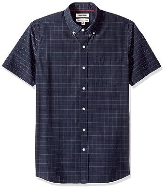 Marca Amazon - Goodthreads - Camisa de manga corta y corte estándar a cuadros grandes para hombre: Amazon.es: Ropa y accesorios