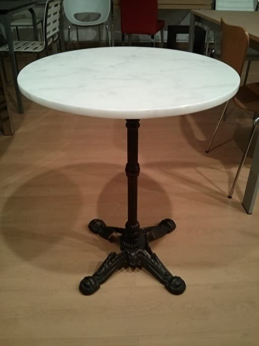 Eurosilla Table Rod Bis Marble Top Base Iron Deal For Terraces