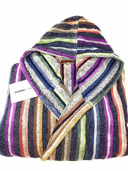 low priced 8fef1 05413 Men's Bathrobe with Hood Missoni Home Art. Theseus Stripes ...