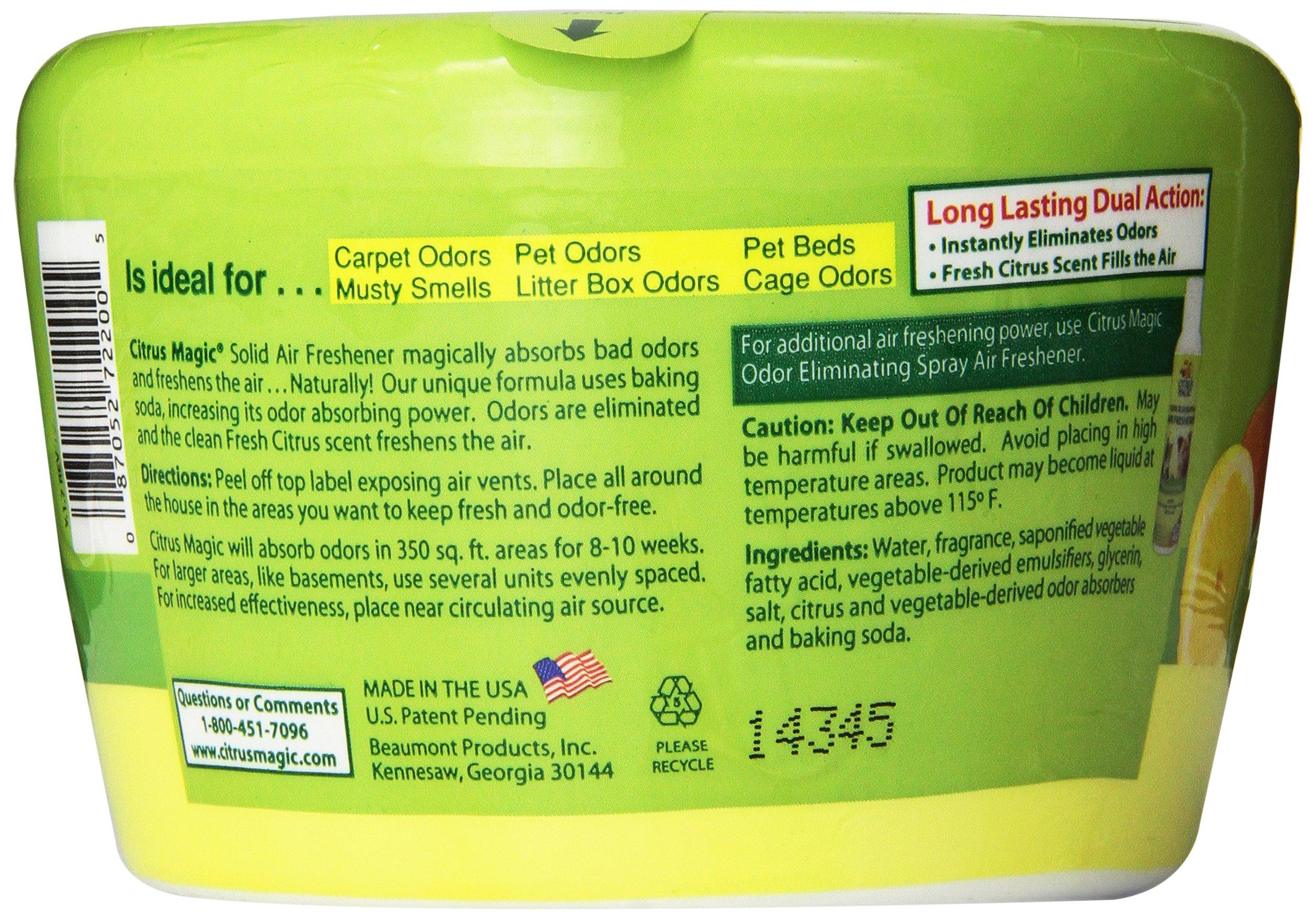 Citrus Magic Pet Odor Absorbing Solid Air Freshener Fresh Citrus, 20 Ounces