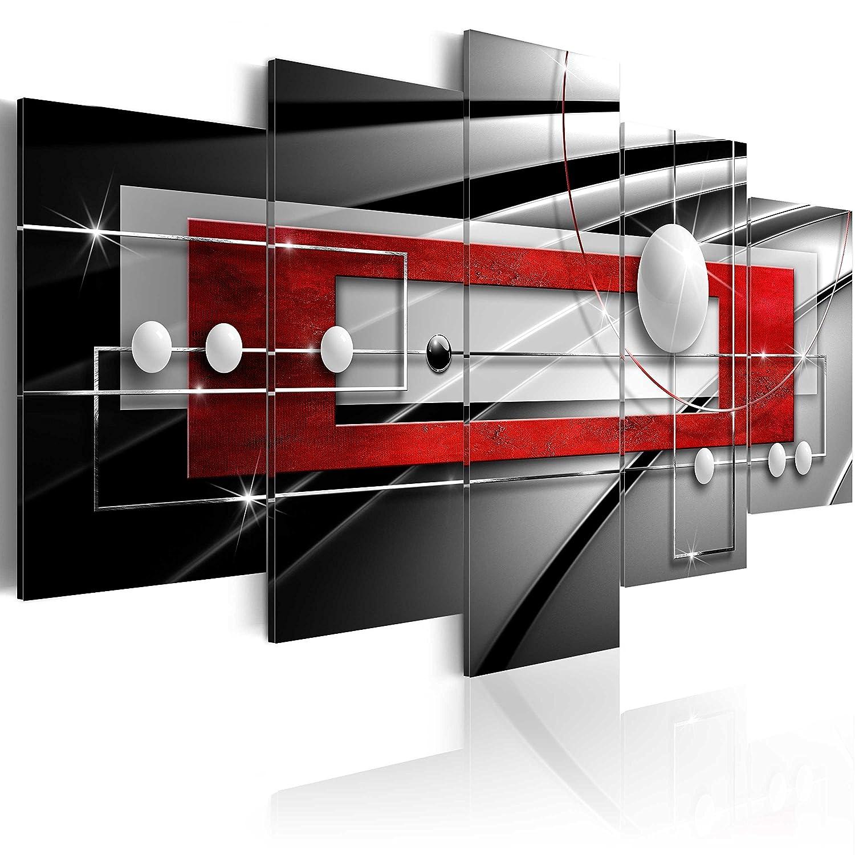 murando Akustikbild Abstrakt Kugel 200x100 cm Bilder Hochleistungsschallabsorber Schallschutz Vlies Leinwand Akustikdämmung 5 TLG Wandbild Raumakustik Schalldämmung a-A-0209-b-n