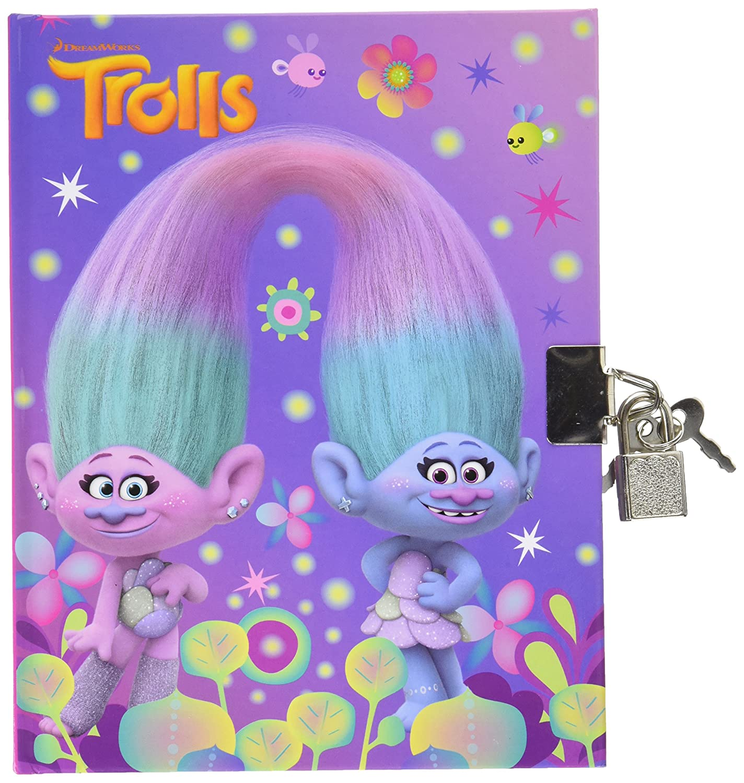 1 Journal Intime TROLLS - (2 Modèles Assortis envoi aléatoire) Dreamworks Giovas_345-20910