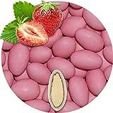 500g Hochzeitsmandeln Gastgeschenke Erdbeere rosa Schokomandeln griechisch EinsSein® Hochzeit Zuckermandeln Schokomandeln Bonboniere Bonbons Schokotafeln ohne organzasäckchen Dragees Taufmandeln kg