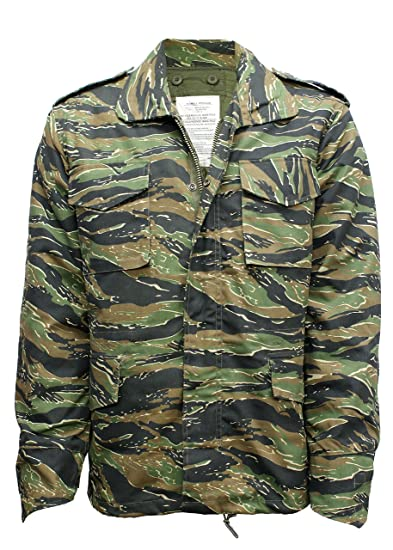 5b17be34b196e M65 Military Field Jacket with Removable Quilted Inner Liner- Tiger Stripe  Camouflage