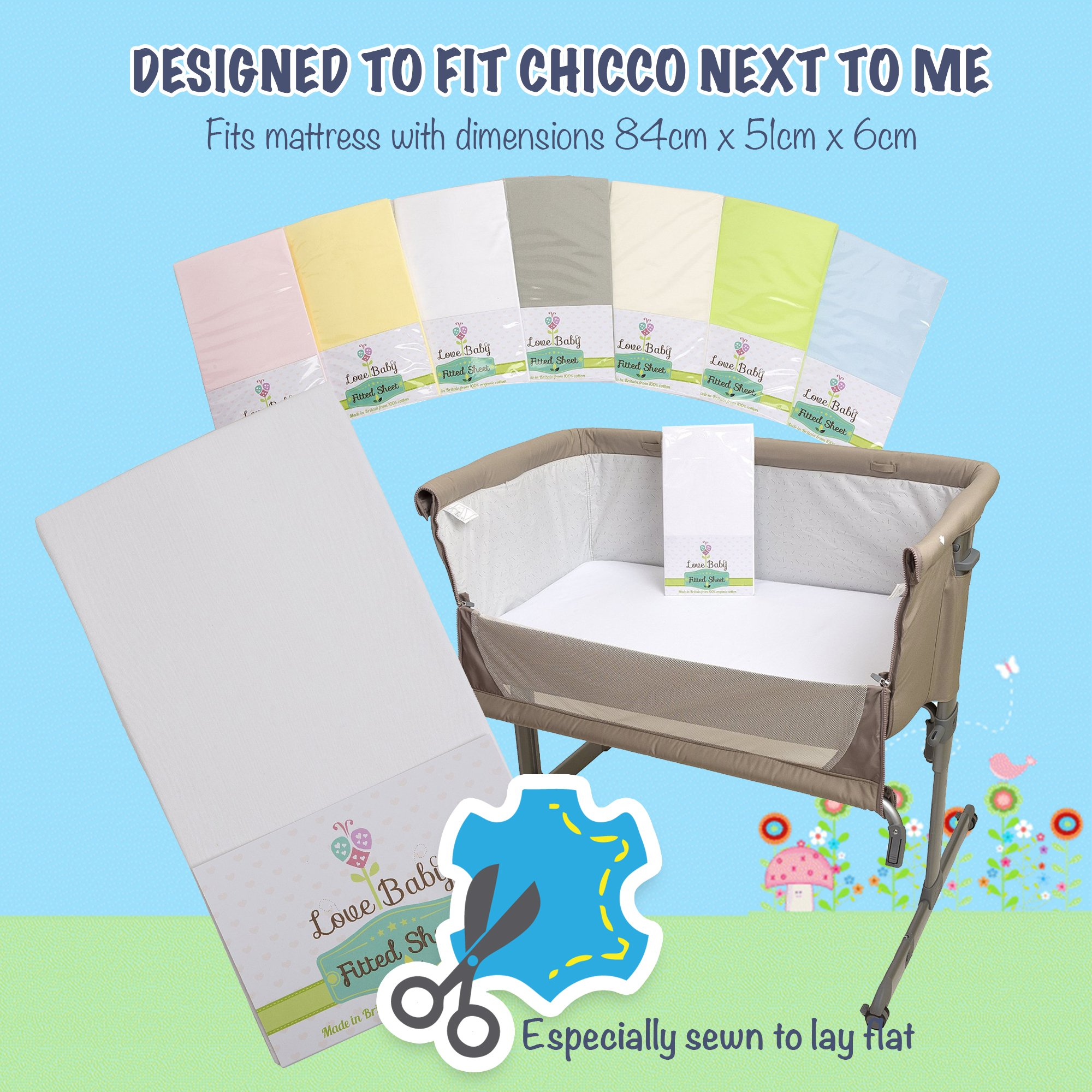 Beanbone Fitted Crib Sheet Made To Fit The Bedside Crib