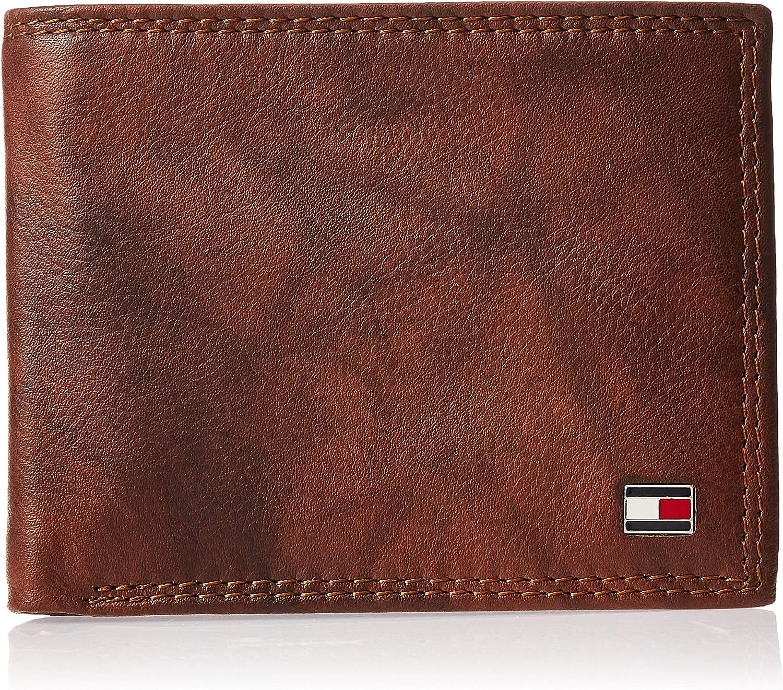 Tommy Hilfiger Men's RFID Blocking Leather Extra Capacity Traveler Wallet