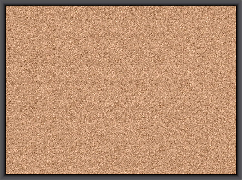 U Brands Cork Bulletin Board, 23 x 17 Inches, Black Wood Frame